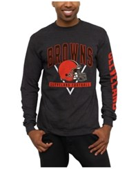 Junk Food Men's Cleveland Browns Nickel Formation Long Sleeve T Shirt Heather Charcoal