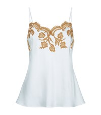 Marjolaine Lace Trim Silk Camisole Female Multi