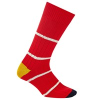 Paul Smith Chunky Ribbed Thin Stripe Socks One Size Red