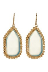 Melinda Maria Aqua Onyx Pod Earrings Metallic