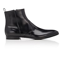 Prada Men's Narrow Toe Ankle Boots Black Blue Black Blue