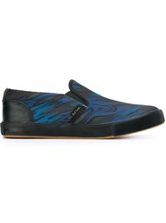 Paul Smith Marbled Print Slip On Sneakers