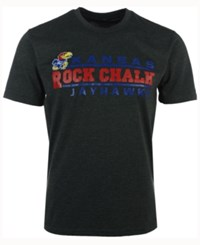 Colosseum Men's Kansas Jayhawks Verbiage Stack T Shirt Charcoal