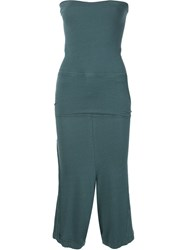 Musee Strapless Drop Crotch Playsuit Green