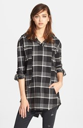Women's Rta 'Parker' Plaid Cotton Hoodie