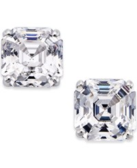 Macy's Cubic Zirconia Stud Earrings In 14K White Gold