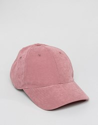 Asos Baseball Cap In Pink Peached Texture Pink