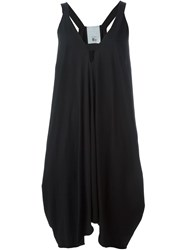 Lost And Found Rooms Deep V Neck Asymmetric Dress Black