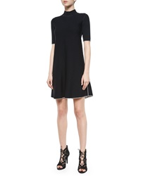 Lakelyn Evian Contrast Trim Dress Black Ivory Ice