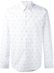 Paul Smith Ps By Micro Heart Shirt White
