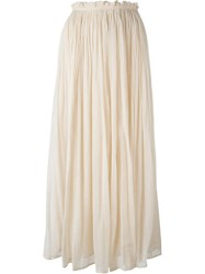 Mes Demoiselles 'Axelle' Long Skirt Nude And Neutrals