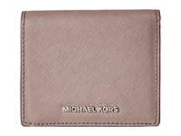 Michael Michael Kors Jet Set Travel Carryall Card Case Cinder Credit Card Wallet Gray