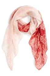 Women's Nordstrom 'Lace Haze' Silk Chiffon Square Scarf