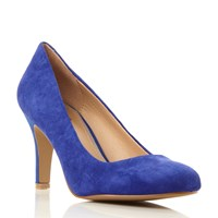 Linea Aquarious Round Toe Leather Court Shoes Blue