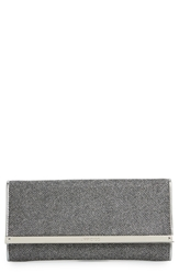 Jimmy Choo 'Milla' Glitter Lame Wallet On A Chain Anthracite