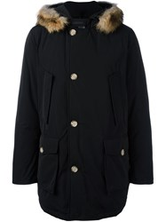 Woolrich Hooded Parka Coat Black