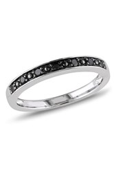 Two Tone Black Diamond Band 0.10 Ctw