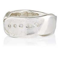 Ali Grace Women's White Diamond Open Band Ring Silver No Color Silver No Color