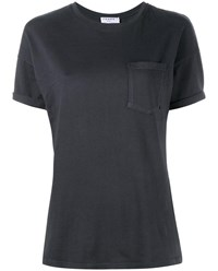 Frame Denim Le Boyfriend T Shirt Charcoal Grey Denim