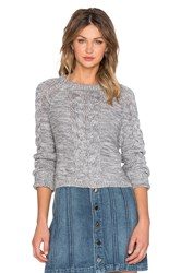 Lovers Friends X Revolve Darcy Crop Sweater Gray