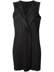 Issey Miyake Pleats Please By Pleated Waistcoat Black