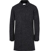 John Elliott Kempy Melange Wool Overcoat Black