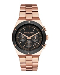 41.5Mm Reagan Rose Golden Stainless Steel Watch Michael Kors