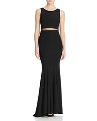 Aqua Illusion Waist Gown Black