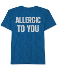 Jem Men's Allergic To You Knit Graphic Print T Shirt Sea Blue
