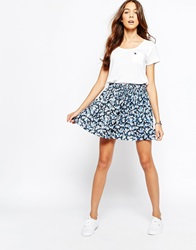 Jack Wills Drawstring Mini Floral Skirt Multi