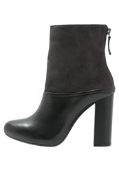 Unisa Sosua High Heeled Ankle Boots Ferro Dark Gray