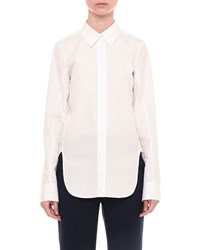 Jil Sander Long Sleeve Poplin Button Down Shirt White Women's Size 38