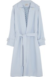 Temperley London Oscar Crepe Trench Coat Blue