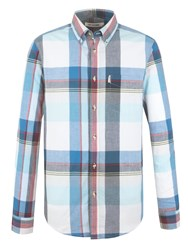 Ben Sherman Long Sleeve Summer Madras Check Shirt Sky Blue