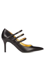 Bottega Veneta Point Toe Leather Pumps Black