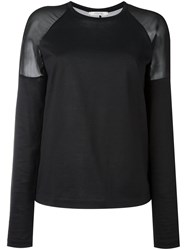 Dorothee Schumacher Sheer Panel Jumper Black