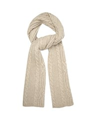 Raey Cable Knit Wool Scarf Light Grey