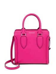 Alexander Mcqueen Heroine Small Leather Open Tote Hot Pink