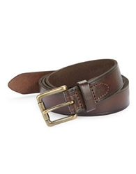 Nautica Leather Square Buckle Belt Brown