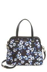 Kate Spade New York 'Cedar Street Floral Maise' Poplin Canvas Satchel Black Black Multi