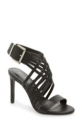 Women's Charles By Charles David 'Isabel' Sandal Black Smooth Leather