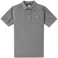 C.P. Company Patch Logo Polo Grey