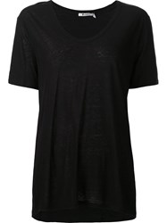 Alexander Wang T By Scoop Neck T Shirt Black