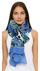 Theodora And Callum Playa Del Carmen Scarf Blue Multi