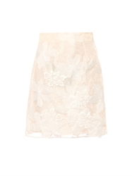 Rebecca Taylor Floral Embroidered Organza Skirt