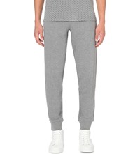 Armani Jeans Embroidered Logo Cuffed Jogging Bottoms Grey Marl