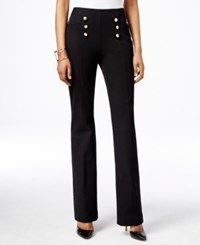 Inc International Concepts Petite High Waist Flare Leg Pants Only At Macy's Deep Black