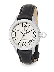 Charriol Columbus Stainless Steel And Embossed Leather Watch