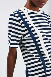 Boutique Taped Stripe Tee By Navy Blue