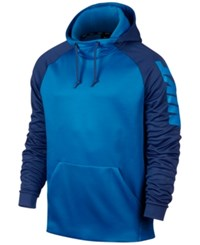 Nike Men's Therma Colorblocked Hoodie Light Photo Blue